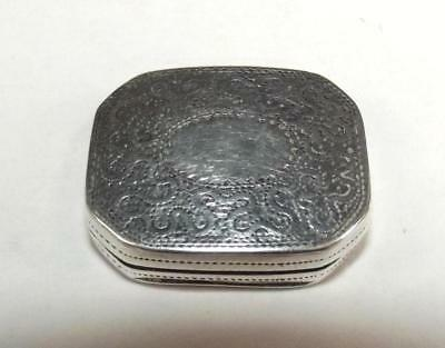 George III Silver Vinaigrette Birmingham 1818 By John Bettridge
