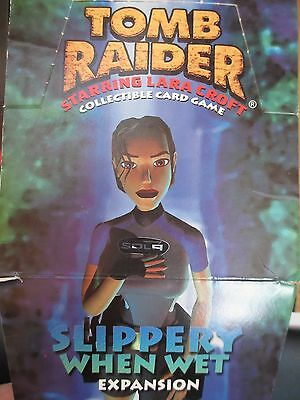 Tomb Raider CCG DISPLAY - 48 BOOSTER PACKS Sealed SLIPPERY WHEN WET Lara croft