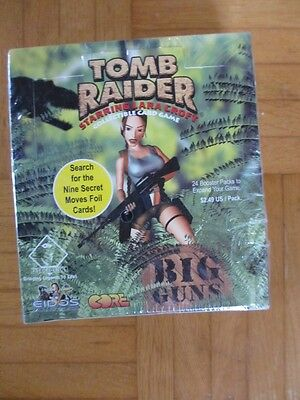 Tomb Raider CCG BIG GUNS DISPLAY - 24 BOOSTER PACKS Sealed - Lara croft tcg card