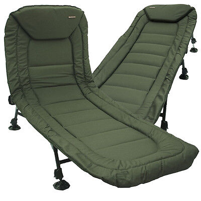 NGT Specimen Fishing Camping Anglers Reclining Lightweight Bedchair with Pillow