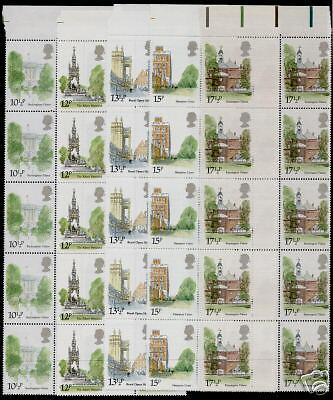 Great Britain 910-4 Gutter Pair Strips MNH Architecture