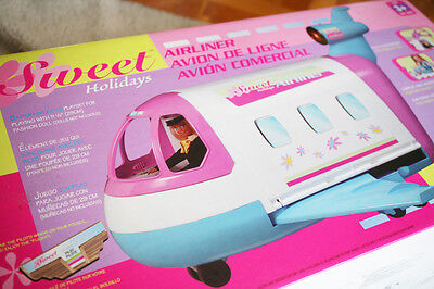 AIRLINER: SWEET HOLIDAYS PLANE. Lot FEATURES like BARBIE´S JET GLAM! BRAND NEW!