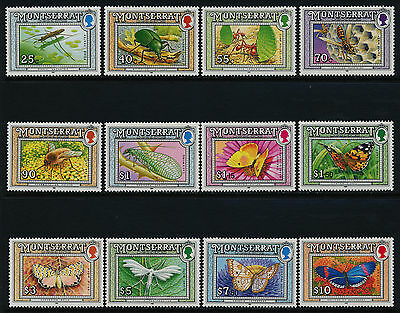 Montserrat 803-18 MNH Insects, Wasp, Butterfly