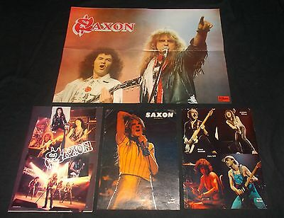 SAXON - COLLECTION OF VINTAGE 1980's MAGAZINE POSTERS/IMAGES (NWOBHM) METAL