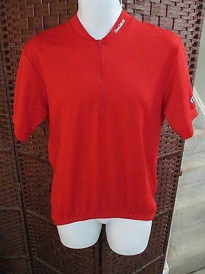 Mens Canari Coolmax Cycling Jersey Size Large Red