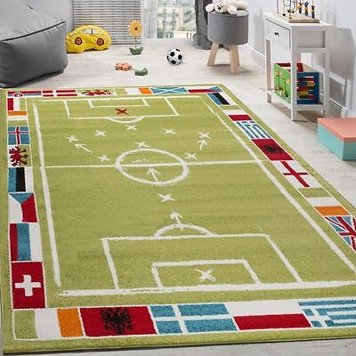 Childrens Rug Kids Play Mat Carpet Sports Football Pattern Quality Bedroom Rugs