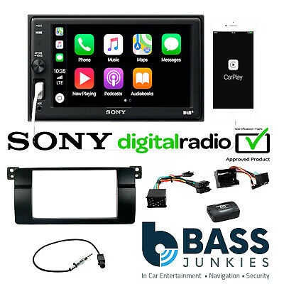 BMW 3 Series E46 Sony DVD Bluetooth USB Car Stereo Double Din Steering Wheel Kit