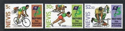 Nevis Mnh 1982 Sg91-93 75Th Anv Of Boy Scout Movement Set Of 3