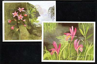 Nevis Mnh 1999 Ms1353 Orchids Mini Sheets X 2