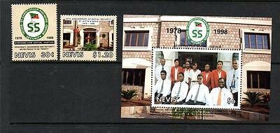 Nevis Mnh 1998 Sg1161-1162 & Ms1163 20Th Anv Of Social Security Set Of 2 & M/s