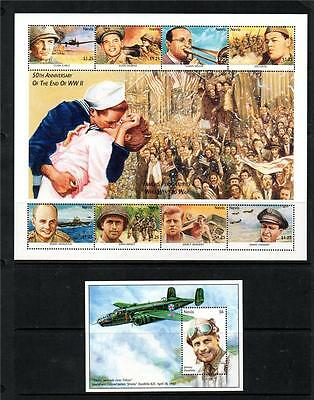 Nevis Mnh 1995 Sg904-911 & Ms912 50Th Anv End Of Wwii Sheet & M/s
