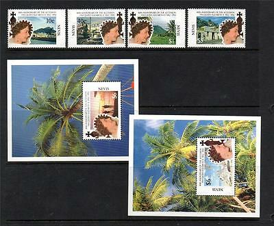 Nevis Mnh 1992 Sg655-658 & Ms659 40Th Anv Of Qeii's Accession Set Of 4 & M/s X 2