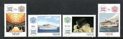 Nevis Mnh 1988 Sg508-511 300Th Anv Of Lloyd's Of London Set Of 4