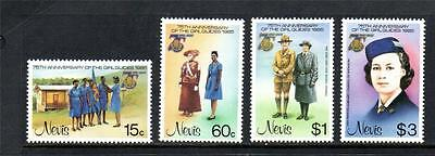 Nevis Mnh 1985 Sg293-296 75Th Anv Of Girl Guide Movement Set Of 4