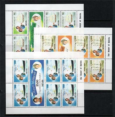 Nevis Mnh 1981 Royal Wedding Issue - Sets/minisheets (3 Scans)
