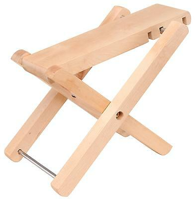 Classic Cantabile Guitar Foot Rest Stool Bank Ajustable Height 12 To 24.5Cm Wood