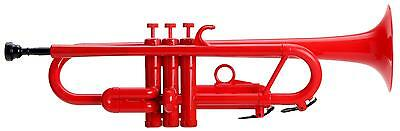 Jazz Trumpet Wind Instrument 3 Valves Mouthpiece Bag Stand Cleacing Rod Set Red