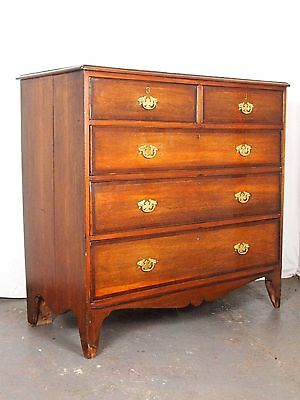 An Antique Regency 1810 Oak/Mahogany Crossbanded Chest Of Drawers  ~Can Deliver~