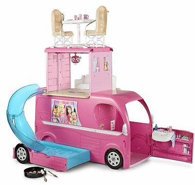 Barbie: Pop Up Camper (Caravana Superdivertida). 3 Niveles, Nueva En Caja!