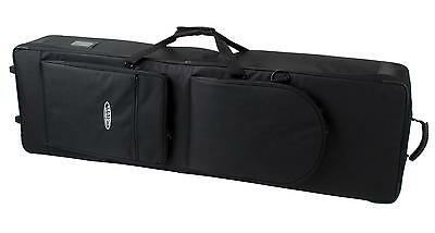 Professional Keyboard Case Bag Waterproof Nylon With Handle & Wheels 140Cm Black