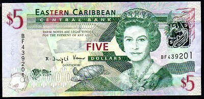 Billet 5 dollars Eastern Caribbean