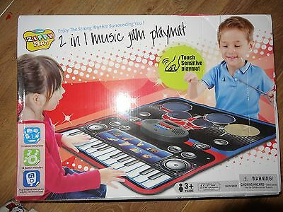 2 in 1 Music Jam Playmat Piano Drum Kit  Zippy Toys BRAND NEW SEALED Kids Toy