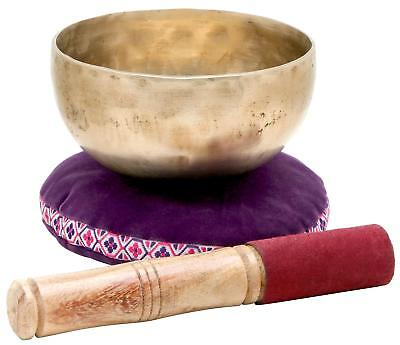 Tibetanian Singing Bowl 13Cm Percussion Instrument Musictherapy Pillow Stick Set