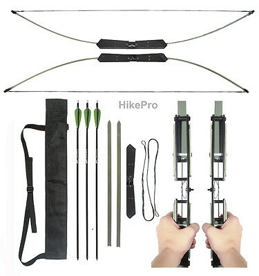 Compact  Break - Take Down Survival Bow The Raptor 2in1 45/55lb Kit with arrows