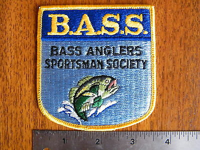 B.A.S.S. BASS ANGLERS SPORTSMAN SOCIETY Patch Crest