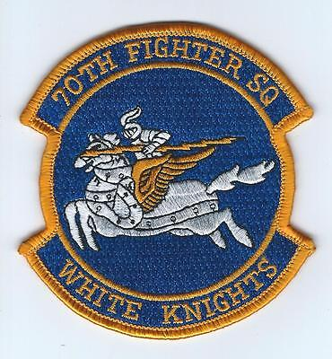 """70th FIGHTER SQUADRON """"WHITE KNIGHTS""""  patch"""