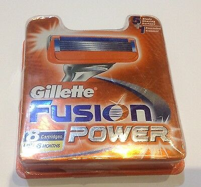 GILLETTE FUSION POWER BLADES pack of 8 or 16