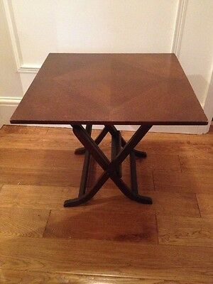 Vintage Wooden Folding Metamorphic Coffee Table/ Fire screen