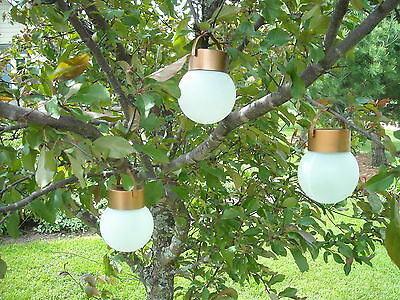 6 Hanging Solar LED Lights  Pathway Garden Patio Dusk to Dawn