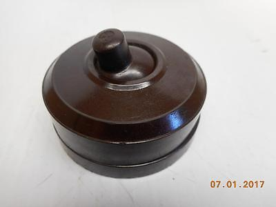 Vintage Bakelite Round Light Switch On / Off MADE IN CANADA