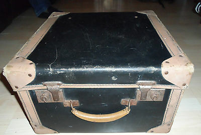 Vintage Black Hard Case Square Trunk Suitcase