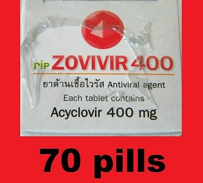 zovivir400 ****(70 pills)*** COLD SORE herpes simplex infections herpes zoster