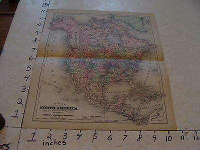 vintage map Johnson's Cyclopaedia: MAP OF NORTH AMERICA