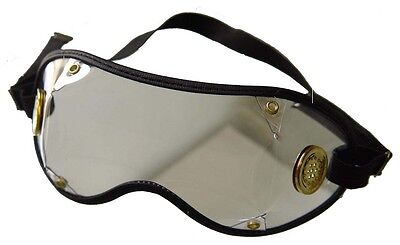 Jockey Goggles~PVC Lens With Anti Fog Brass Vents With Black Trim~ Set Of 5