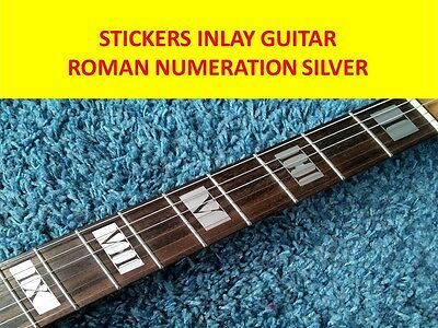 Stickers Inlay Roman Numerals Silver Fret Markers Guitar Visit Our New Store