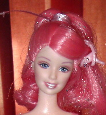 Barbie Pink Sparkle Fairy Fairytopia Giltter Hair & Top 1 doll 1 Pink stand