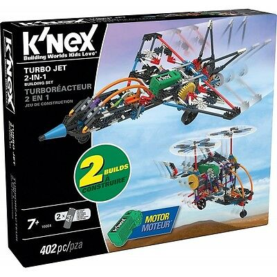 K'Nex Turbo Jet 2-in-1 Building Set (16004) Brand New