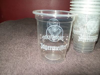 30 Jagermeister Jager Bomb Plastic Shot Glasses - Perfect Measure - Disposable