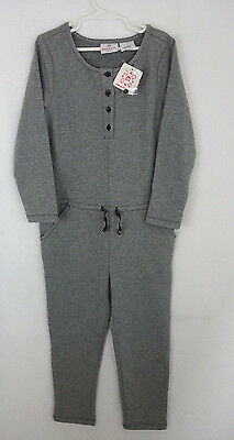 NWT Hanna Andersson Girls 120 6 6X 7 Gray Cozy French Terry Romper Jumpsuit New