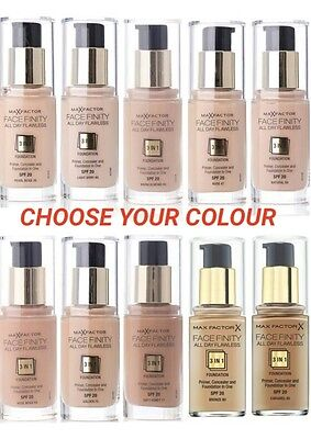 Max Factor Face Finity 3 In 1 Foundation / Primer Brand New - Choose Your Shade