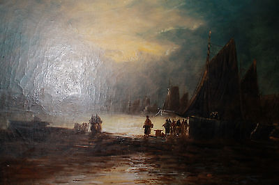 Antique painting -signed T.TAYLOR-British-19th Century-oil on canvas