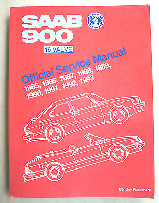 Classic SAAB 900 16V Official Service Manual 1985 - 1993 -- Bentley Publishers