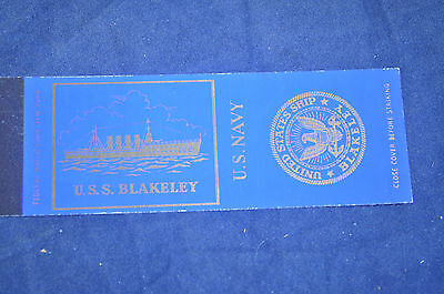USS Blakeley DD-150 Match Cover