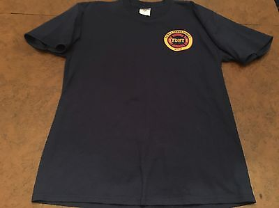 FDNY 9/11/01 Never Forget Short Sleeve Shirt Mens Large Engine Ladder Company L
