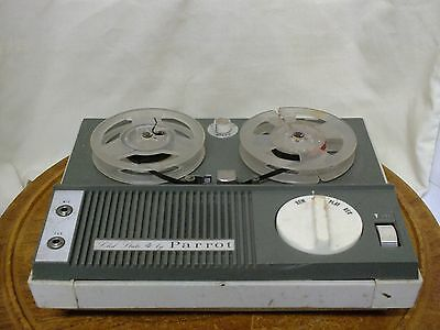 * Vintage Solid State 4 Parrot Reel To Reel. Collectible.