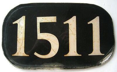 Vintage Illinois Central IC Locomotive Number Board Plate Sign 1511